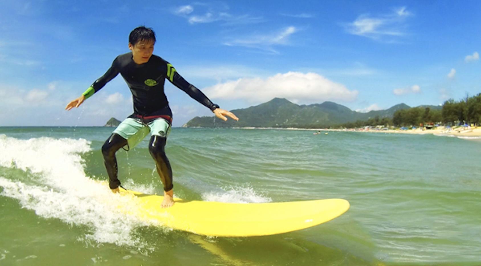 第一次零基础学习冲浪就可以站在冲浪板上
